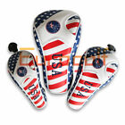 GOLF Driver Headcover Hybrid Head Cover For Taylormde Adams Callaway USA Flag