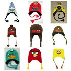 show angry birds - Boys Winter Peruvian Hats Regular Show Phineas & Ferb Angry Birds DOMO Spongebob