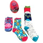 Hatchimals 3-Pairs Socks 1 Low Cut/1 Knee High/1 Crew Size 3-9 NWT