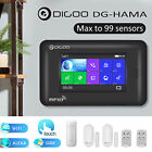 home alarm wireless - Digoo HAMA Touch Screen GSM +  WiFi Smart Home Burglar Security Alarm System Kit
