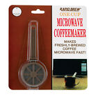 Rapid Brew One Single Cup Microwave Coffeemaker - Coffee Maker - Fresh, Fast!