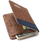 New Leather Canvas Short Wallet Card Holder Men's Bifold Purse Pocket Money Clip