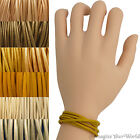 Yellow Leather Cord Multi Wrap Bracelet Custom Handmade 72 inches USA necklace
