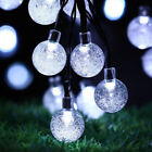 Solar Garden Lights String Fairy 30 LED Globe Ball Garden Party Weatherproof
