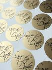 35 Stickers- 37mm Round Gold Silver Save The Date for Wedding / Party Invites