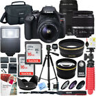 Canon T6 EOS Rebel DSLR Camera w/ 18-55mm IS II + 75-300mm III Double Zoom Kit