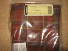Longaberger Spring Basket Liner Toboso Plaid mint condition in bag not used!