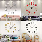 Retro 3D DIY Mirror Watch Surface Wall Sticker Large Wall Clock Home Wall Decro