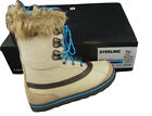 NEW $350 Burton Sterling Womens Snowboard Boots! Tan with Blue Laces & Faux Fur