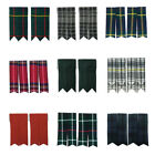 Mens's Tartanista Plain & Tartan Kilt Sock Flashes. Huge Range Of 25 Plus Clans