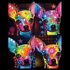 4 Chihuahuas Neon Size 2 X Large-7 X Large Mens Tank Tops