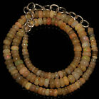 """51 CRT 3-6 MM 15""""NATURAL ETHIOPIAN  WELO FIRE OPAL  RONDELLE BEADS NACKLACE OP90"""