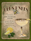 BEE'S KNEES COCKTAIL:RETRO STYLE :HOME BAR:METAL SIGN :3 SIZES TO CHOOSE FROM