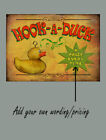 HOOK A DUCK  DESIGN YOUR OWN FAIRGROUND POSTER  METAL SIGN CHOOSE YOUR OWN SIZE