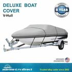 Delxue++V%2DHULL+18+Foot+WATERPROOF+Boat+Cover+600+Denier+%2D+GRAY