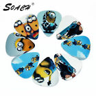 SOACH 10pcs 0.71mm Kinds Pattern Printing Guitar Picks Plectrums Musical