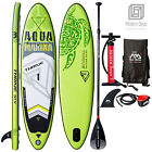 10' Aqua Marina Inflatable Stand Up Paddle Board with Paddle and Coil Leash