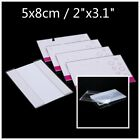 6 10 20 Clear Acrylic Sign Display Card Holder Price Tag Label Stand 5 x 8 cm