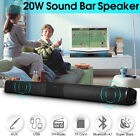 wireless speaker home theater - 20W Wireless Bluetooth TV Speaker Home Theater Soundbar Stereo FM AUX w/ 2 Cable