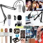 Pro Audio Condenser Microphone Kit Vocal Studio Recording Set Stand + Microphone