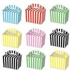 Party Boxes  Stripe Cardboard Lunch Food Loot  Treat Gift  Box  2 - 12