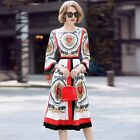 Women Floral Printed New Fashion Sexy Dress Street Spring Slim Fit Vogue Dress