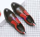 Mens Lace Up Flats Shoes British Carving Casual Business Oxfords Formal Dress sz