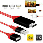 3ft 3in1 1080P HD USB to HDMI Cable Cord Converter for iPad/iPhone/Android Phone