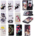 Beautiful Pattern Magnetic PU Leather Stand Card Wallet Case For Samsung Xiaomi