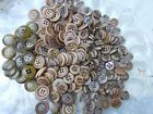 Vintage Lot of Tan/Butterscotch/Marbled Colored Buttons