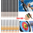 "24PCS 33"" Archery Arrow Fiberglass Arrows Nocks Fletched Target Practice Hunting"