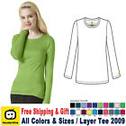 Внешний вид - WonderWink Scrubs New Layer Medical Uniform Silky Long Sleeve Tee Free Shipping