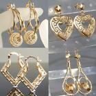 9K 9ct Gold Filled Ladies Prom Dangle Earring Valentine Xmas Birthday Gift E620