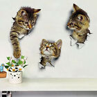 Wall Stickers Vinyl Cute 3d Kitten Cat Bedroom Fridge Decal Home Mural Art Decor