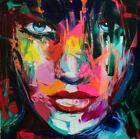 GUDI- Abstract Hand-Painted Portrait Oil Painting Modern Home Decor Canvas Art
