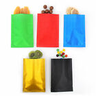 New Flat Open Top Rice Paper Texture Mylar Bags in Multiple Colors and Sizes