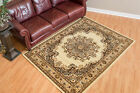 Designer Home Soft Traditional Oriental Area Rug with Center Medallion
