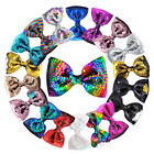 4.5 inch Sequin Hair Bow Reversible Hair Alligator Clips Gir