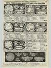1923 PAPER AD Edwin Knowles Palatial KT&K China Dinner Plate Sets Victory