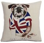 "British Bulldog Red White Blue Union Jack Chenille 18"" Cushion Cover Pillow Case"