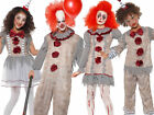 Vintage Clown Costume Adults Kids Halloween Horror Scary Fancy Dress Pennywise