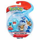 Pokemon Battle 3 Figure Pack: Wobbuffett, Popplio & Eevee - Brand New