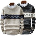 New Men Casual Round Neck Fashion Knit Sweater Pullover Knitwear Jumper Coat Top