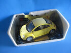 Volkswagon Beetle Durago Model Car Yellow  New Beelte W/Partial Box