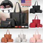 4pc/set Women Lady PU Leather Handbag Shoulder Tote Purse Sa