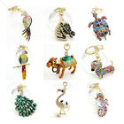 Внешний вид - Key Chains Animal Keyring Purse Bag Rhinestone Crystal Charm Pendant Necklace