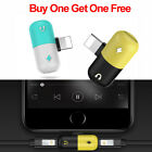 2 in 1 Lightning Adapter headphone Audio Charger Cable Splitter For iPhone 7 8 X