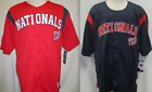 Washington Nationals Button Up Baseball Jersey Red or Navy MLB Mens Size M XL