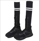 New Women's Sport Mid calf Boots Lace Up Knitted Sock Boots Flat Fashion Shoes