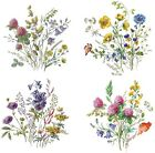Meadow Wild Flower Select-A-Size Waterslide Ceramic Decals Bx image